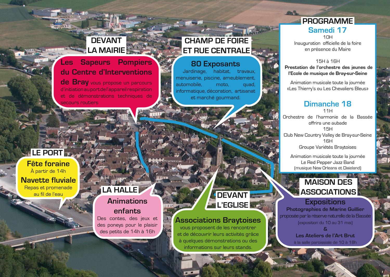 plan Foire expo 2014 Bray-sur-Seine