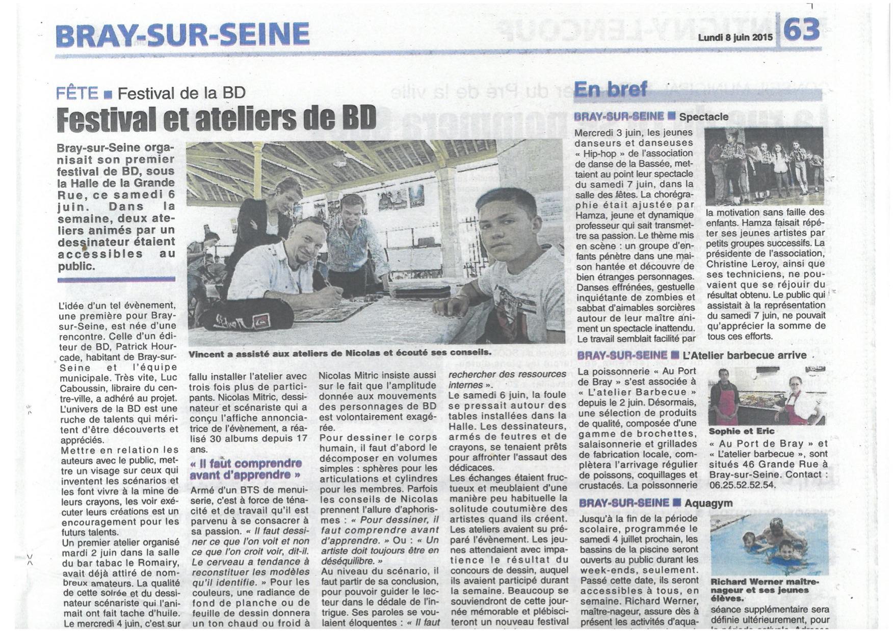 Revue de presse du 8 juin ville de bray sur seine for Bray sur seine piscine