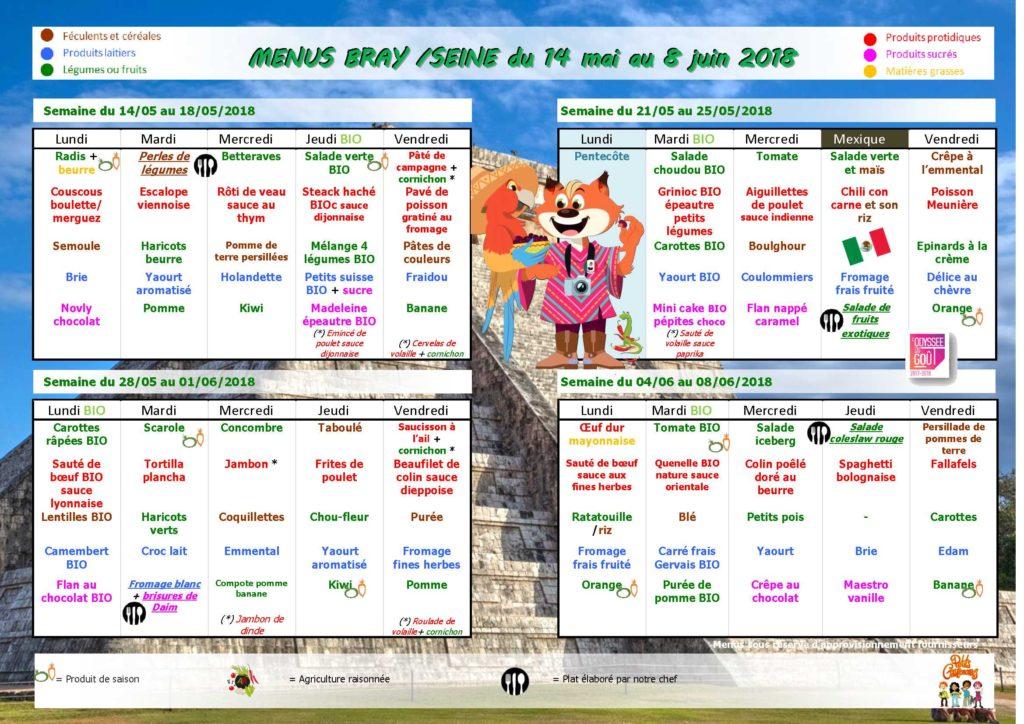 Menus cantine scolaire du 14 mai au 8 juin ville de for Piscine 8 mai vitry sur seine